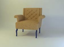 3Д кресло с изогнутими ручками
