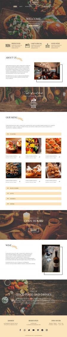 веб-сайт ресторана