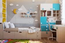 Дизайн итнерьера детской комнаты