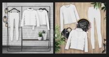 Коллаж предметов одежды для инстаграмма