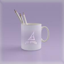 логотип на чашке