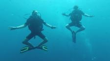 Diving - любительская съемка с отдыха на море