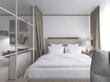 Визуализация гостинной - спальни (вид 2)