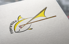 The logo for the sushi bar Fish'n'Roll.