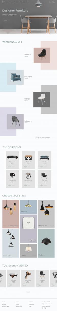 Интернет-магазин дизайнерской мебели