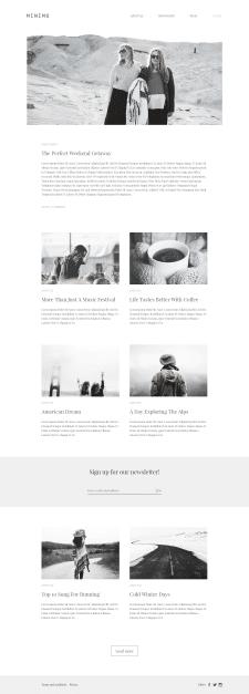 Minimo - blog template