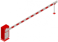3D-шлагбаум (смоделирован в AutoCad)