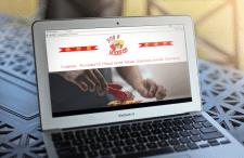 Шаблон разработанного сайта с уникальным дизайном.
