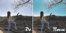 Цветокор и небольшая ретушь фото для Instagram
