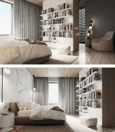 2х комнатная квартира минимализм
