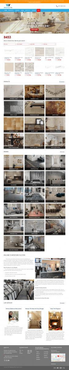Сайт по продаже керамической плитки #2