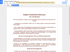 E-mail for translation agency's clients