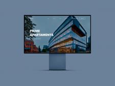 Веб версия, пример сайта на мониторе