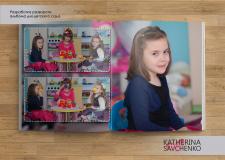 Разворот альбома для детского сада