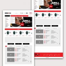 Дизайн сайта для компании BBQ