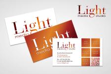 Визитки для media studio Light