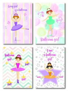 Блокноты для девочек балеринки