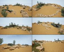 """Левелдизайн """"Пустыня"""" для строительного симулятора"""