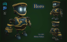 Low Poly модель робота Roro