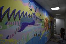 Роспись стен в педиатрии клиники Into-Sana в Киеве