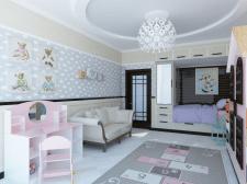 Дизайн интерьера детской девочки