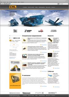 Дизайн сайта для компании CML