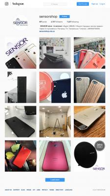 SensorShop | Продвижение группы в Instagram