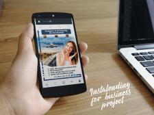 Инсталендинг для бизнес проекта