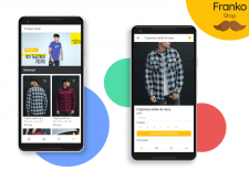 Mobile app of clothes shop