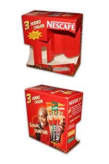 Разработка дизайна для промоупаковки Nescafe 3 в 1