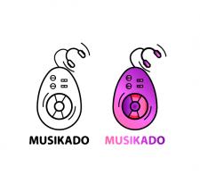Логотип для сайта музыки MUZIKADO