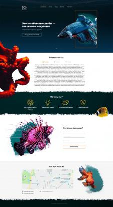 Landing Page экзотические рыбы