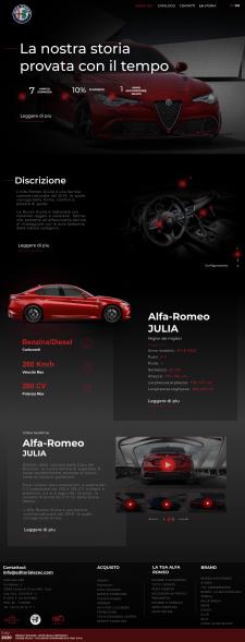"""Дизайна сайта для дилерского центра """"AlfaRomeo"""""""