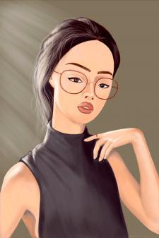 Портрет девушки, стилизованный