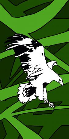 Орел на абстрактному фоні