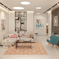 Дизайн проект гостиной и кухни.