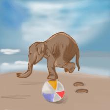 Иллюстрации новичка (слоник)
