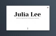 Сайт портфолио для танцора и артиста Julia Lee