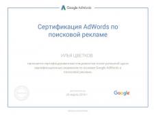 Сертификат специалиста Adwordds