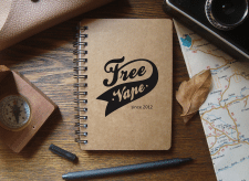 FreeVape Logo Design for Vape Shop