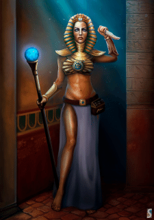 Egyptian Witch.  Character Concept Art.