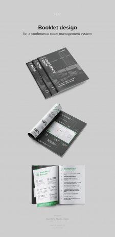 Booklet design for a conference room management sy
