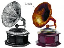 векторный фотореализм , перерисовка - граммофон