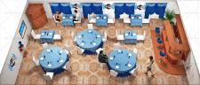 3D изображение: организация WI-FI зоны в ресторана
