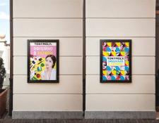 Дизайн рекламных пла для бренда косметики TONYMOLY
