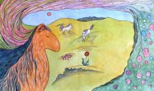 """""""Сны лошади"""" - иллюстрация к детской книге"""