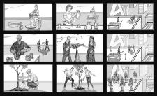 Storyboard(раскадровка)к клипу часть 1