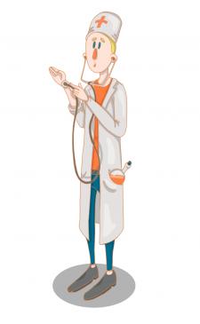 Персонаж Молодой доктор