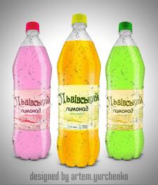 Дизайн этикетки лимонада 2