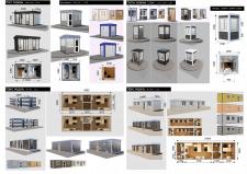 Модульные сооружений разных функциональных типов
